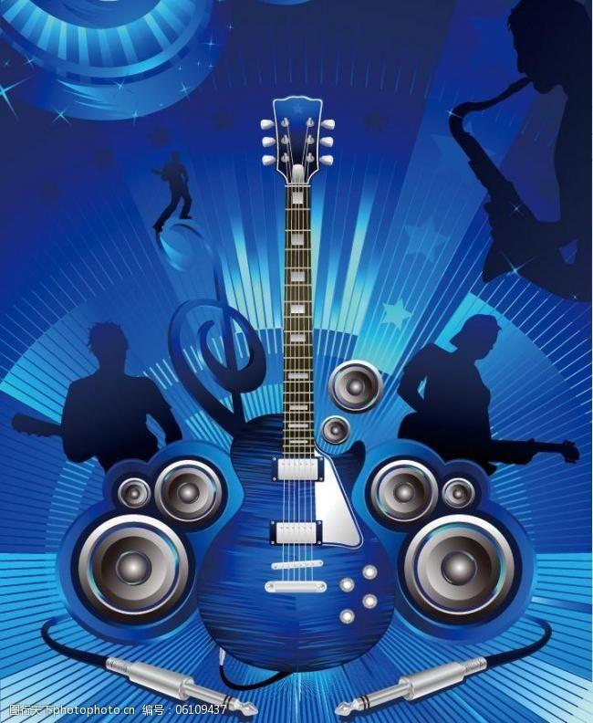 音樂海報傳單矢量素材