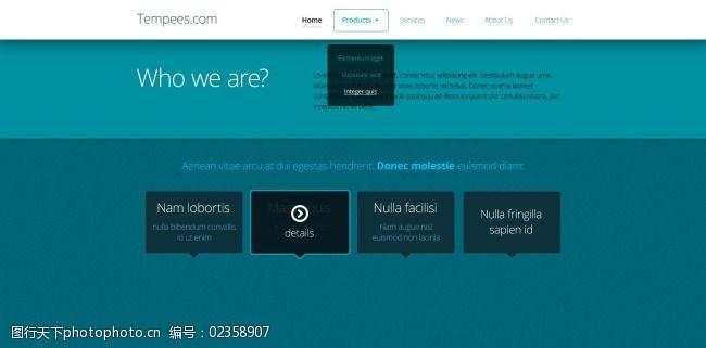 网页蓝色UI界面设计台州装修设计费图片